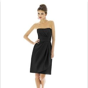 $$-Alfred Sung Strapless wrap Dress